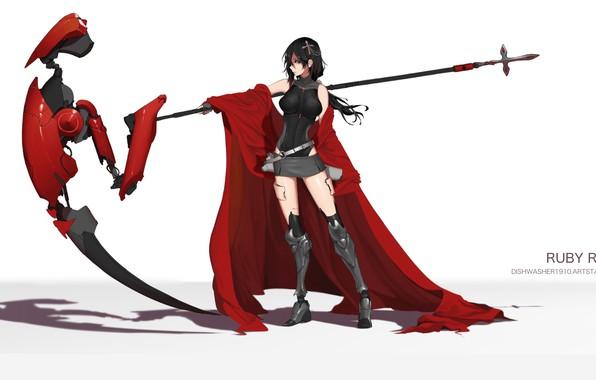 Картинка девушка, оружие, коса, RWBY