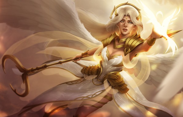Картинка взгляд, крылья, ангел, фэнтези, арт, angel