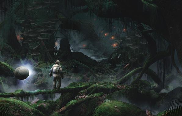Картинка Космонавт, Джунгли, Jungle, Crytek, Robinson: The Journey