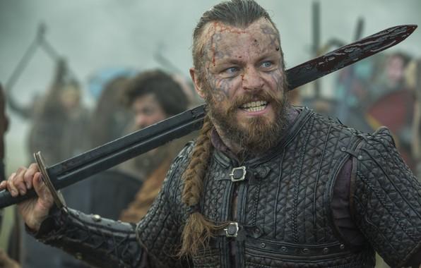 Картинка actor, men, Vikings, tv series, Peter Franzén, Harald Finehair