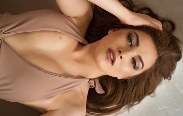 Картинка взгляд, девушка, лицо, волосы, макияж, Кирилл Закиров