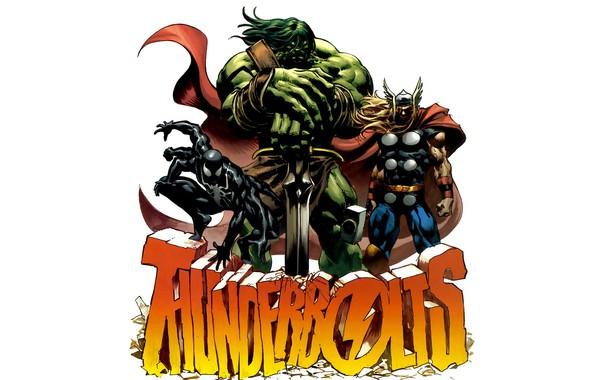 Картинка комиксы, Marvel Comics, Рагнарок, Скаар, Thunderbolts, Расчленитель