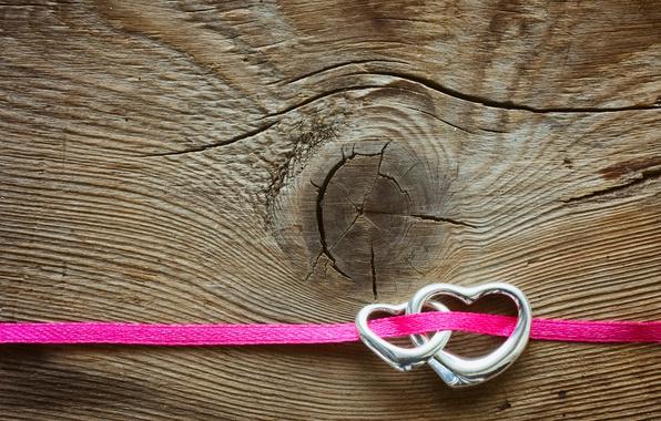 Картинка сердце, сердечки, red, love, wood, romantic, hearts, Valentine's Day