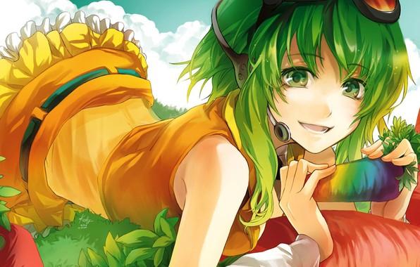 Картинка девушка, природа, музыка, аниме, vocaloid, Вокалоид, Megpoid
