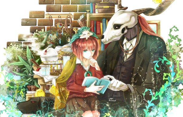 Картинка Anime, Manga, Shonen, Maho Tsukai no Yome, Elias Ainsworth, The Ancient Magus Bride, Chise Hatori