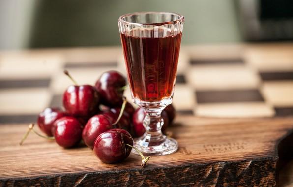 Картинка ягоды, сок, черешня