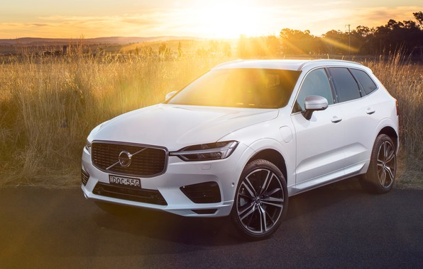 Картинка солнце, лучи, закат, 2018, Volvo XC60
