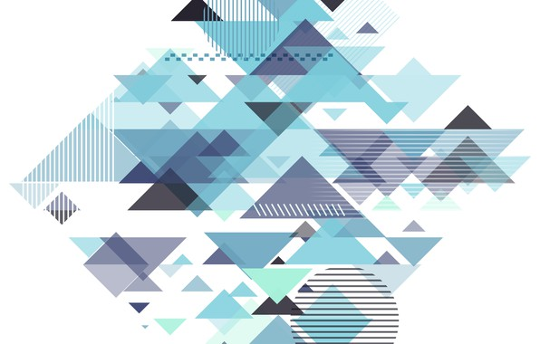 Картинка абстракция, голубой, геометрия, Abstract, design, with, background, triangle, geometric