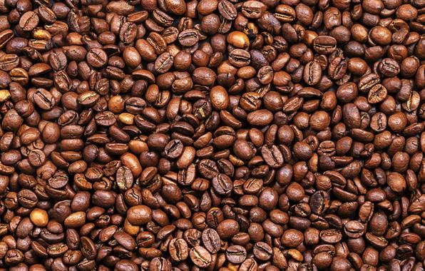 Фото обои фон, кофе, зерна, texture, background, beans, coffee, roasted