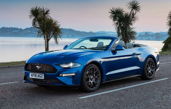 Картинка Mustang, Ford, 2018, Convertible, Ecoboost