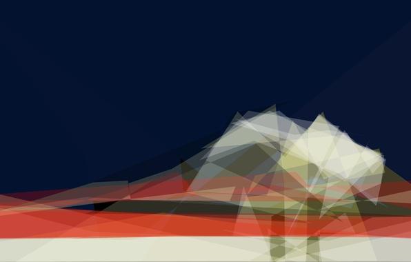 Картинка треугольники, углы, формы, слои