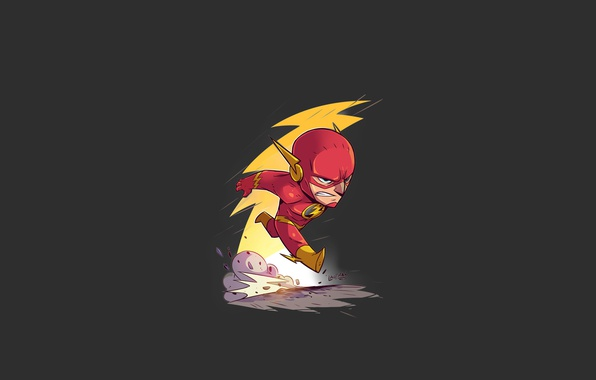 Фото обои red, logo, yellow, dust, speed, hero, DC Comics, fast, Flash, yuusha, tv series, The Flash, ...