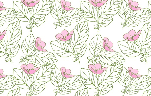 Картинка цветы, текстура, розовые, design, pattern, Floral