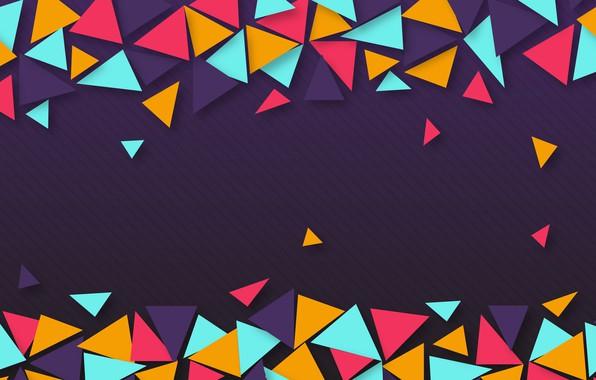 Картинка абстракция, текстура, colorful, геометрия, background, purple, geometric