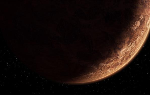 Картинка Star Wars, brown, stars, The Old Republic, planet, darkness, Sci fi, planet Korriban.