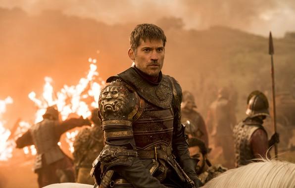 Картинка огонь, конь, битва, доспех, войско, battle, игра престолов, game of thrones, песнь льда и пламени, …