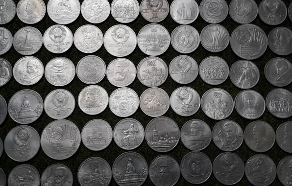 Картинка СССР, рубли, Советские юбилейные монеты, старые монеты