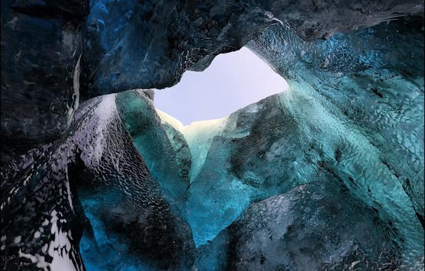 Картинка лёд, Исландия, frozen, Iceland, glacier