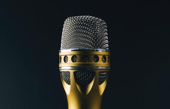 Картинка макро, фон, микрофон, пение