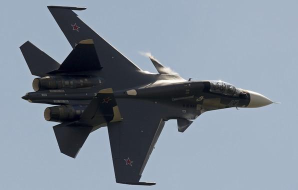 Картинка истребитель, полёт, Су-30СМ