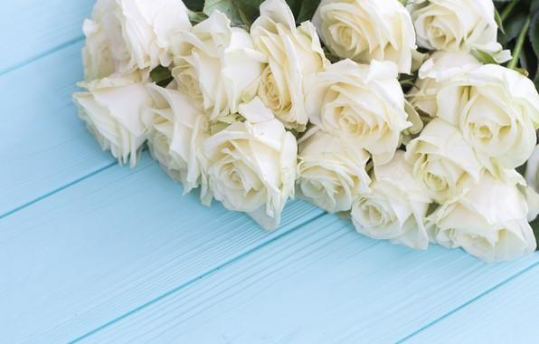 Обои цветы, розы, букет, white, белые, бутоны, wood, flowers, roses