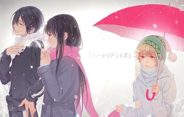 Картинка девушка, зонтик, Бездомный Бог, Noragami, Ято, Юкине