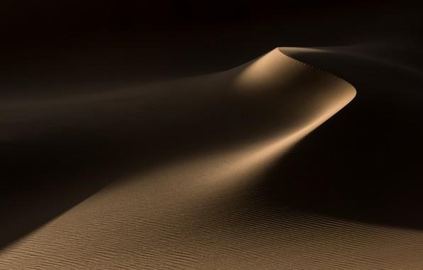 Картинка песок, свет, природа, пустыня, дюны, тени