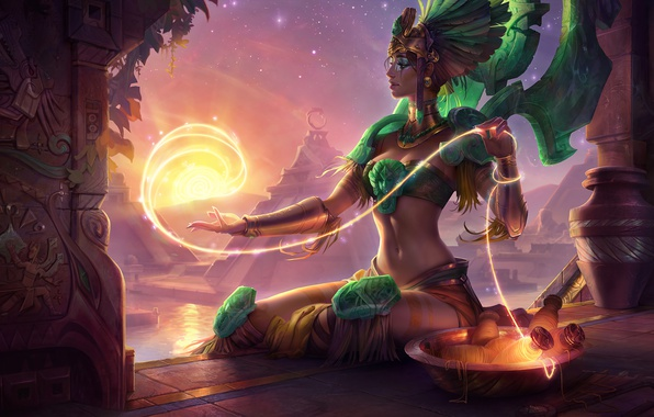 Картинка League of Legends, karma, god, Solar