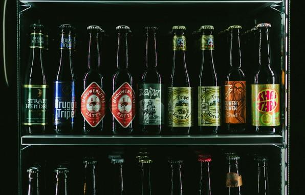 Картинка пиво, красота, бутылки