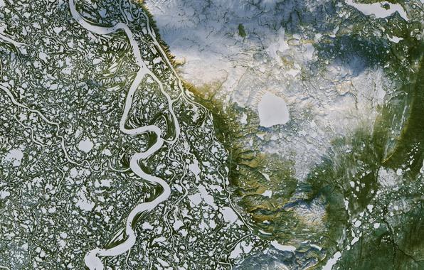 Фото обои Canada, Delta, Mackenzie River