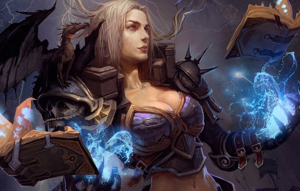 Картинка девушка, магия, арт, ведьма