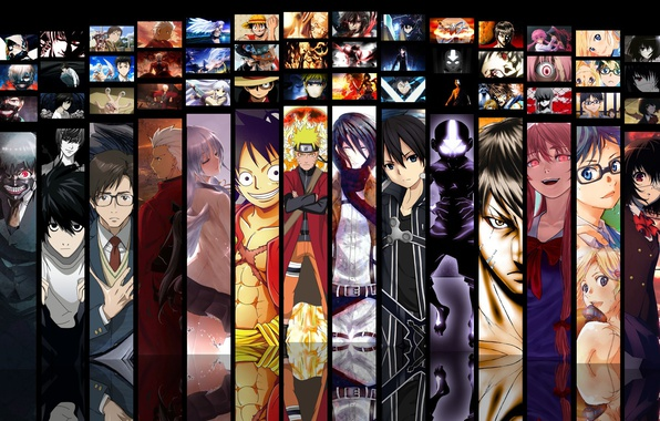 Картинка game, Death Note, Naruto, Anime, Fate/Stay Night, One Piece, pirate, alien, crossover, ninja, asian, Angel …