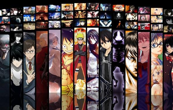 Картинка game, Death Note, Naruto, Anime, Fate/Stay Night, One Piece, pirate, alien, crossover, ninja, asian, Angel ...