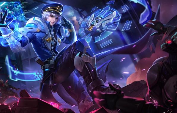 Картинка фантастика, игра, аниме, арт, онлайн, Король славы, YuYu Wang, Star Airlines Commander-Liang Zhuge