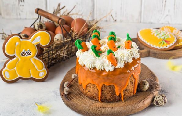Картинка яйца, кролик, печенье, пасха, Праздник, кулич