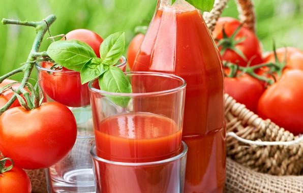Фото обои томатный сок, томаты, напиток