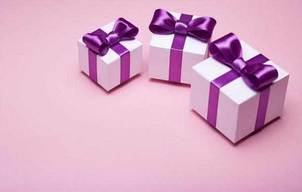 Картинка подарок, лента, бант, box, pink, present, gift, bow, satin