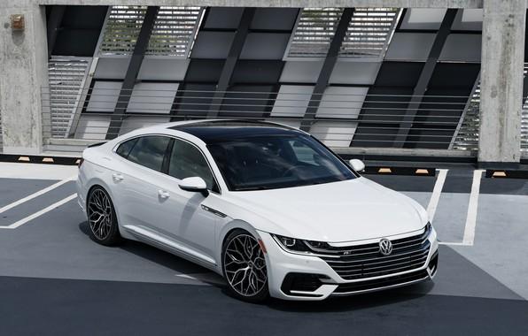 White Land Rover >> Обои Volkswagen, White, Vossen, Arteon, R-line картинки на