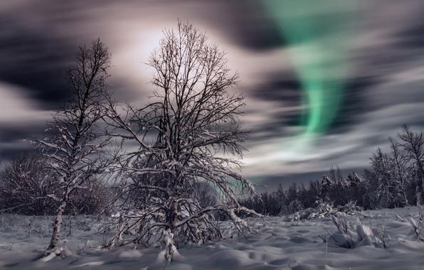 Картинка зима, небо, снег, ночь