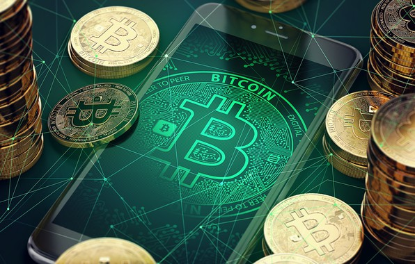 Картинка money, phone, bitcoin