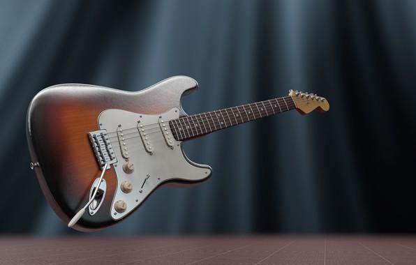 Картинка гитара, струны, электрогитара