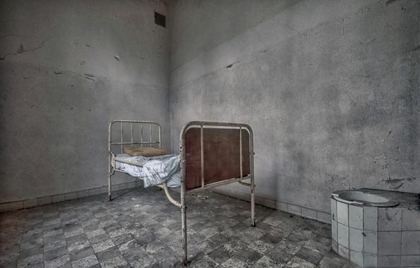 Картинка фон, кровать, палата