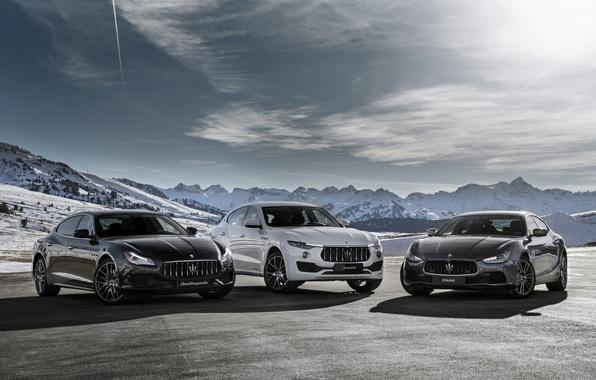 Картинка Maserati, Quattroporte, GranTurismo, мазерати, Levante