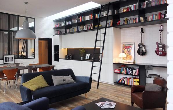 Картинка интерьер, жилая комната, Rock the Loft