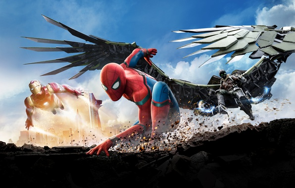 Картинка Action, Fantasy, Heroes, Hero, Iron Man, year, Evil, Robert Downey Jr., EXCLUSIVE, MARVEL, Spider-Man, Avengers, …