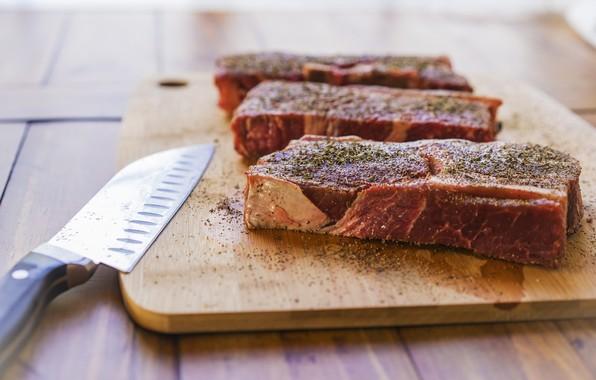 Картинка нож, мясо, Steaks