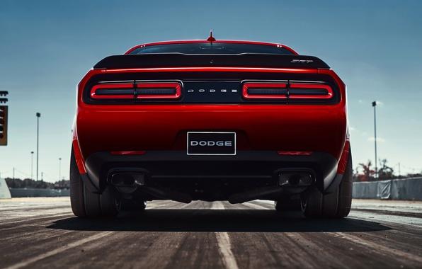 Картинка Dodge Challenger, 2018, Muscle car, SRT, Demon, 2018 Dodge Challenger SRT Demon