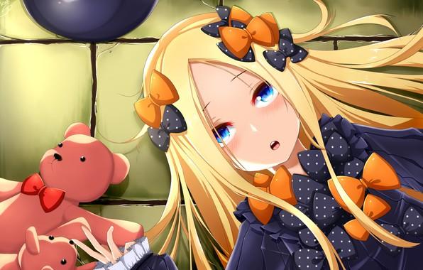 Картинка игрушки, аниме, арт, девочка, мишки, плюшевые мишки, Fate Grand Order, Судьба великая кампания, Abigail Williams, …