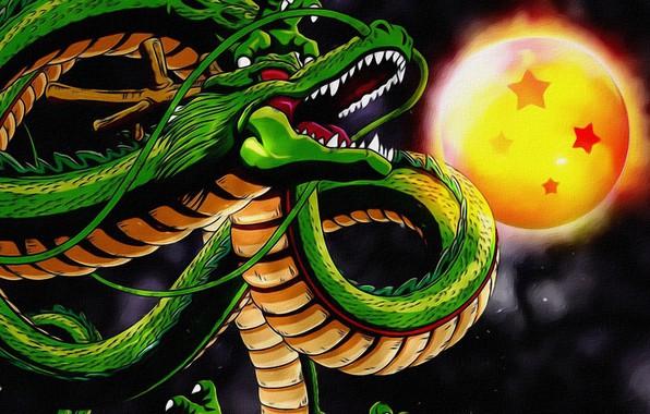 Картинка фон, фантастика, луна, дракон, рисунок, арт, змей, живопись, картинка