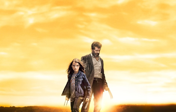 Картинка cinema, girl, Wolverine, Hugh Jackman, X-Men, Logan, man, Marvel, hero, film, kid, Laura, powerful, strong, …